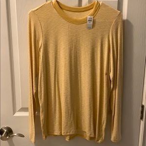 Yellow stripped relaxed long sleeve